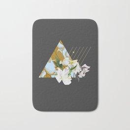 Tropical Flowers & Geometry Bath Mat