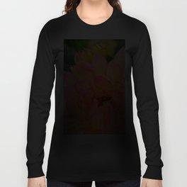 """Coral Tipped"" Dahlia by Teresa Thompson Long Sleeve T-shirt"