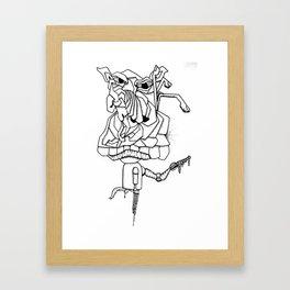 Pig Graphic Framed Art Print