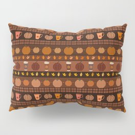 Pumpkin Spice Latte Fair Isle Pillow Sham
