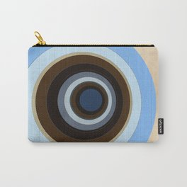 blue and brown circles Carry-All Pouch