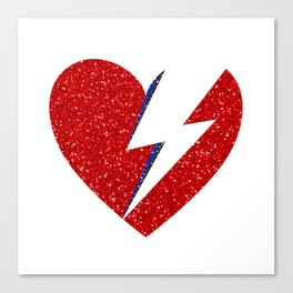 Bowie Heart Canvas Print
