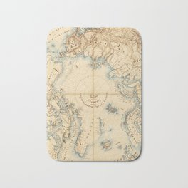Map of the Arctic and Adjacent Regions (1855) Bath Mat