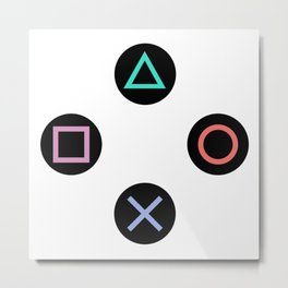 Play with Playstation Controller Buttons Metal Print