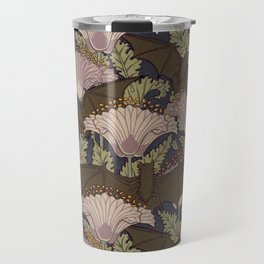 Vintage Art Deco Bat and Flowers Travel Mug