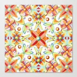 Suzani Textile Pattern Canvas Print