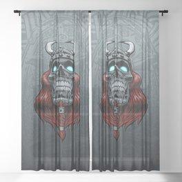 Valhalla Awaits Sheer Curtain