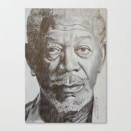 Morgan Freeman Canvas Print