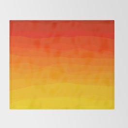 Red to Yellow Sunset Throw Blanket
