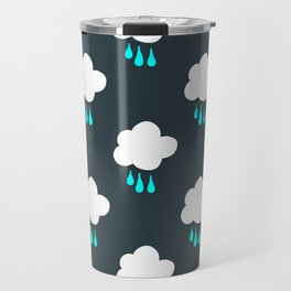 Rain Cloud Pattern Travel Mug
