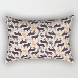Antelopes and rabbits Rectangular Pillow