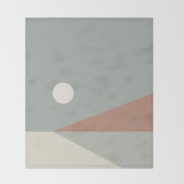 Geometric Landscape 03 Throw Blanket