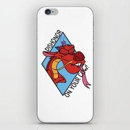 Dishonor on you! iPhone Skin