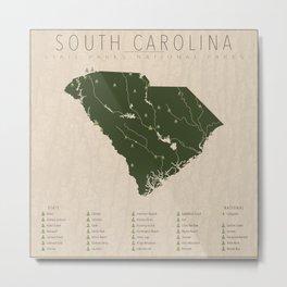 South Carolina Parks Metal Print