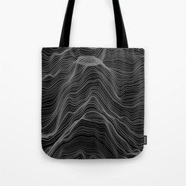 Soft Peaks Black Tote Bag