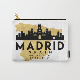 MADRID SPAIN SILHOUETTE SKYLINE MAP ART Carry-All Pouch
