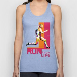 Run For Your Life WPAP Unisex Tank Top