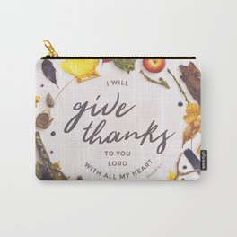 Psalm 9:1 Give Thanks Carry-All Pouch