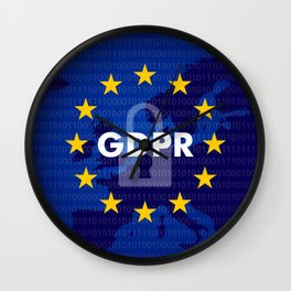General Data Protection Regulation Wall Clock