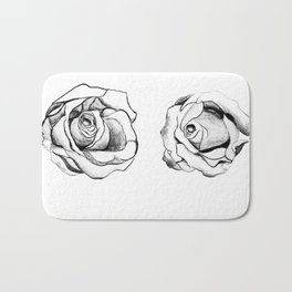 Two Roses for my Friends Bath Mat