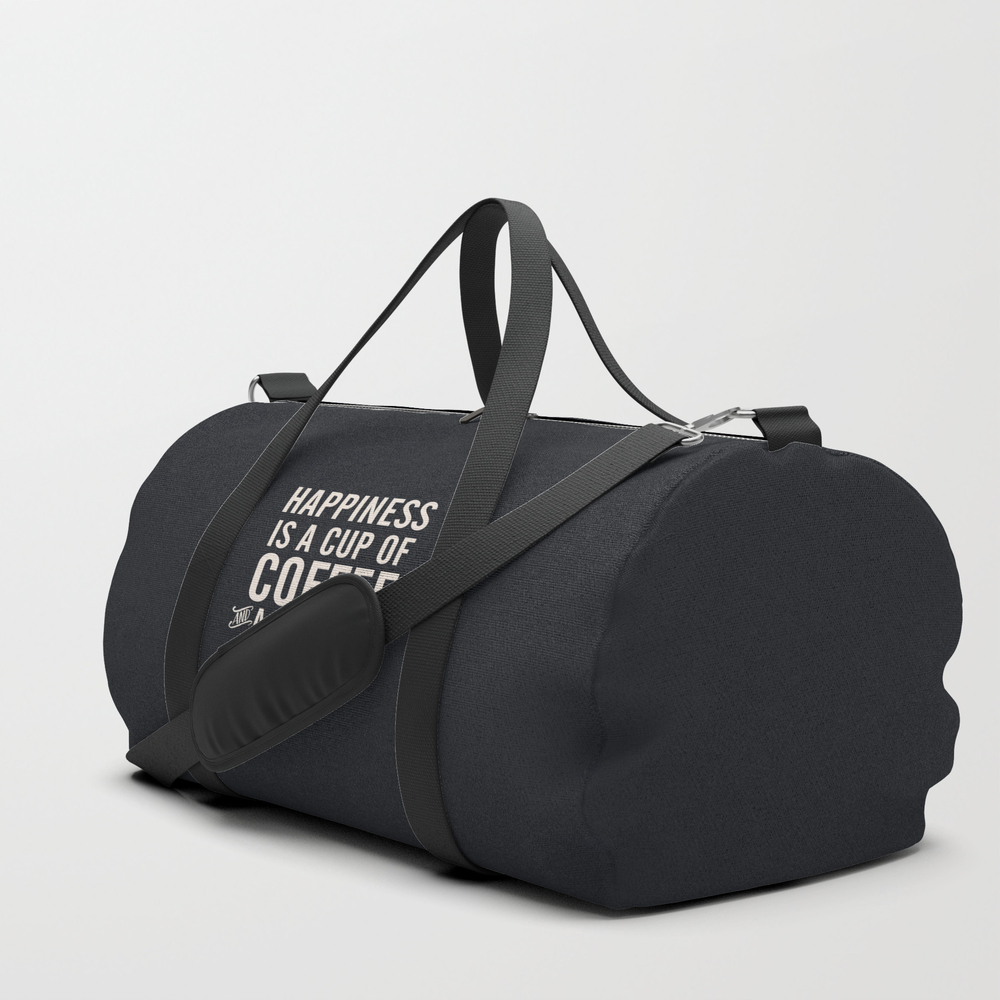 Happiness Is A Cup Of Coffee And A Good Book, Vint… Duffle Bag by Stefanoreves DFL6820351