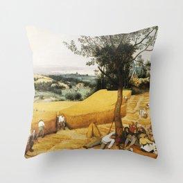 The Harvesters by Pieter Bruegel the Elder, 1565 Throw Pillow
