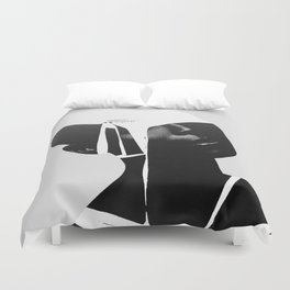 abstract portrait Duvet Cover