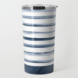 Watercolor Stripes Pattern Travel Mug