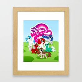 My Social Networks - My Little Pony Parody Framed Art Print