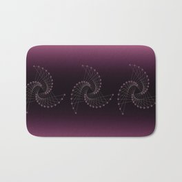 Swirl Sparkle on Burgundy Bath Mat