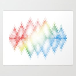 Subtle nebula  Art Print