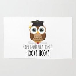 Con-grad-ulations! Hoot! Hoot! Rug