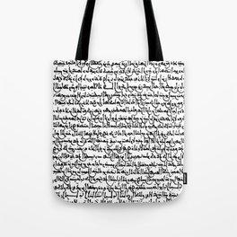 Ancient Arabic Script // White Tote Bag