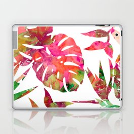 MONSTERA FLORAL - WHITE Laptop & iPad Skin