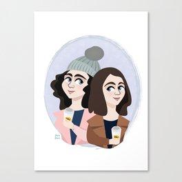 I smell snow, Gilmore Girls Canvas Print