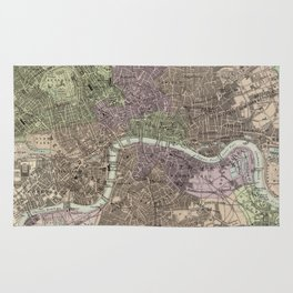 Vintage Map of London England (1872) Rug