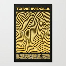 Tame Impala Currents Design Canvas Print