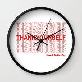 THANKYOURSELF Wall Clock