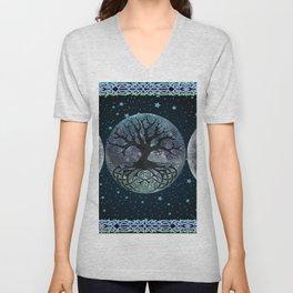 Esoteric Tripple Moon Unisex V-Neck
