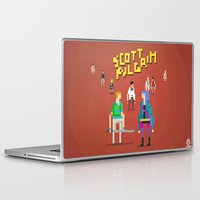 scott pilgrim Laptop & iPad Skins featuring Pixel Art Scott Pilgrim by LoweakGraph