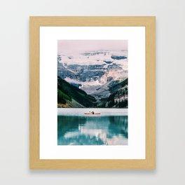 Lone Kayak Framed Art Print