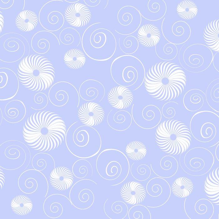 White Spirals Duvet Cover