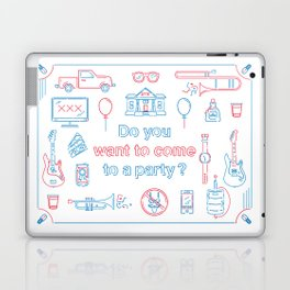 """Blink 182 """"Do you wanna go to a party?"""" Laptop & iPad Skin"""