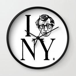 I (Woody) NY Wall Clock