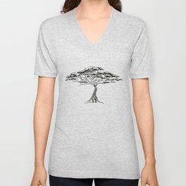 Whistling Thorn , Zen Bonsai African Tree Unisex V-Neck