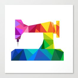 Geometric Sewing Machine Canvas Print