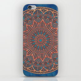 Wooden-Style Mandala iPhone Skin