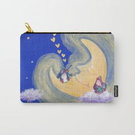 Friends of the Moon Penguins Violin Player and Book Lover Carry-All Pouch