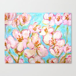 Cherry Blossom - painting by C. Stefan - ArtStudio29 Canvas Print