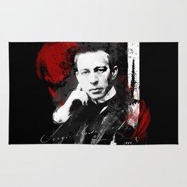 Sergei Rachmaninoff - Russian Pianist, Composer, Conductor Rug